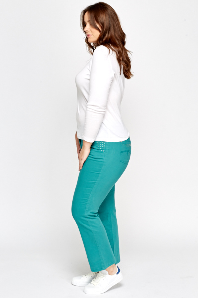 Green Encrusted Trousers