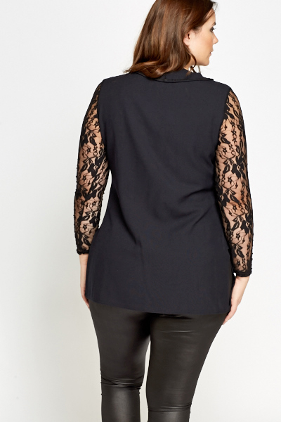 Lace Sleeve Layered Top