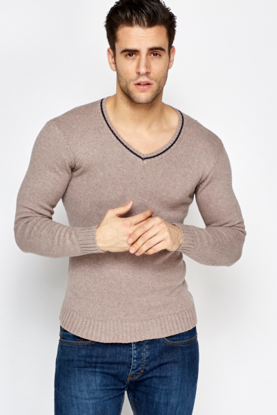 V-Neck Slim Fit Jumper