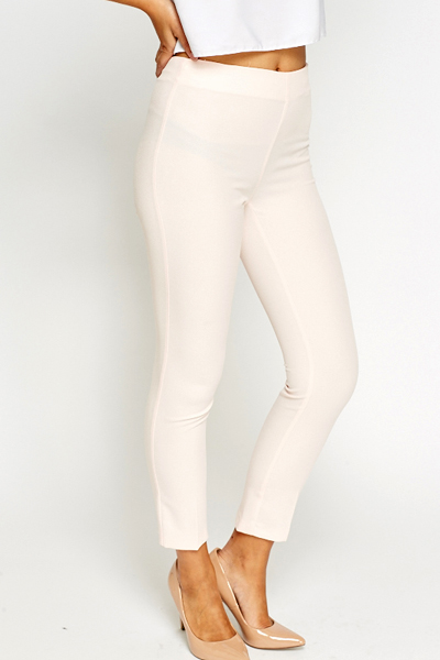 Light Pink Cigarette Trousers