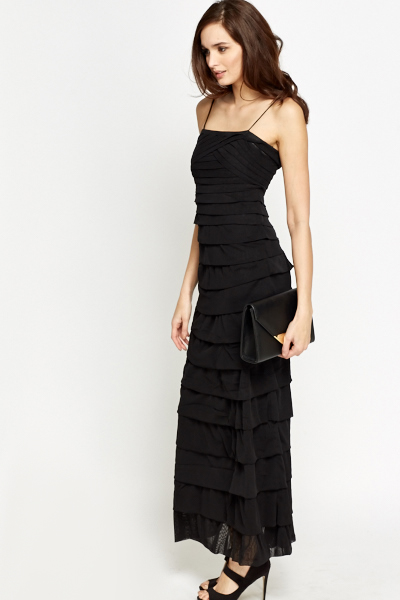 Black Layered Maxi Dress