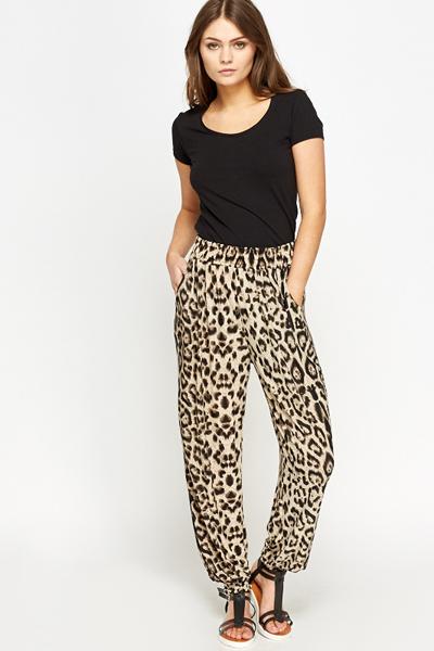 Leopard Print Joggers Just 163 5