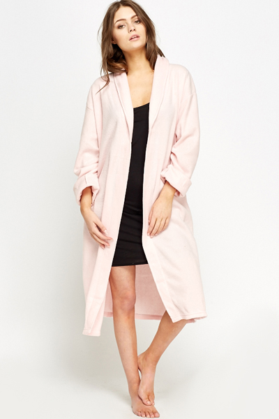 Long Fleece Dressing Gown