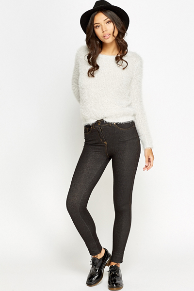 Black Casual Jeggings