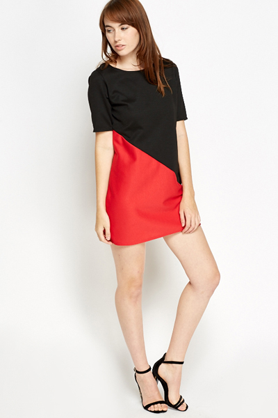 Colour Block Insert Hem Dress