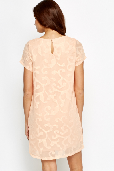 Pleat Front Shift Dress