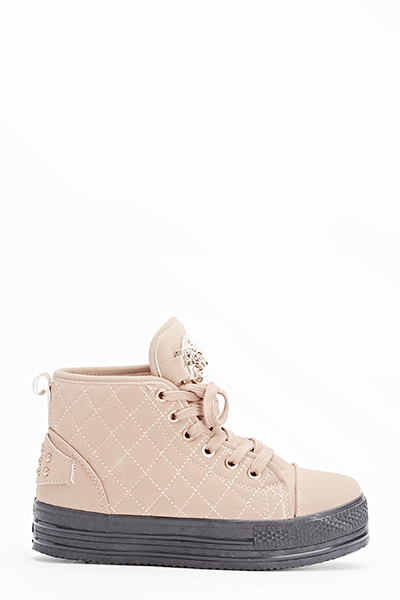 Tiger Loop Quilted FlatForm Trainers