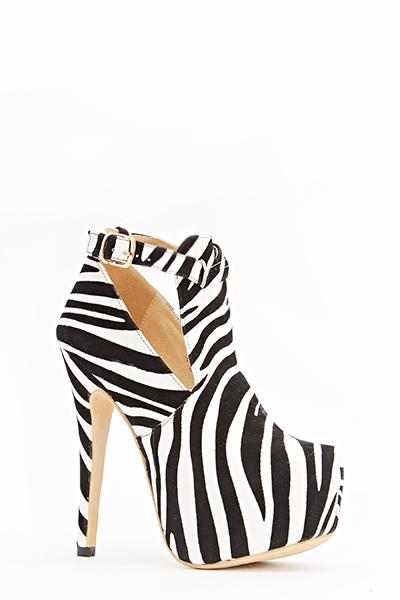 4a6af8c67 Zebra Print Chunky Heels - Just £5