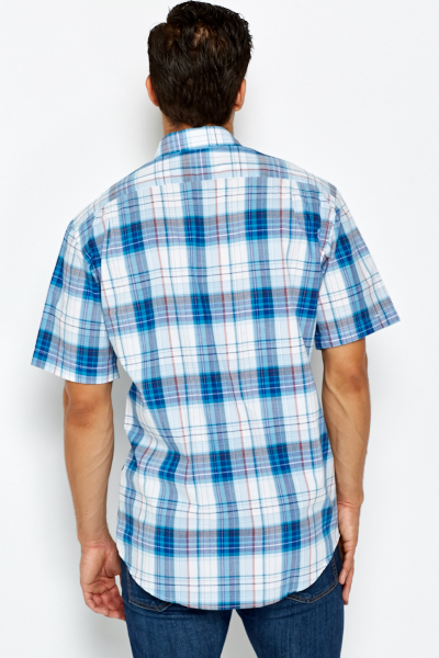 Blue Multi Check Shirt