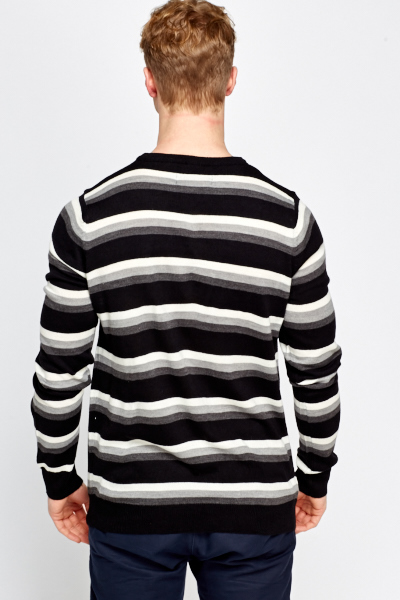 Cotton Blend Striped Jumper