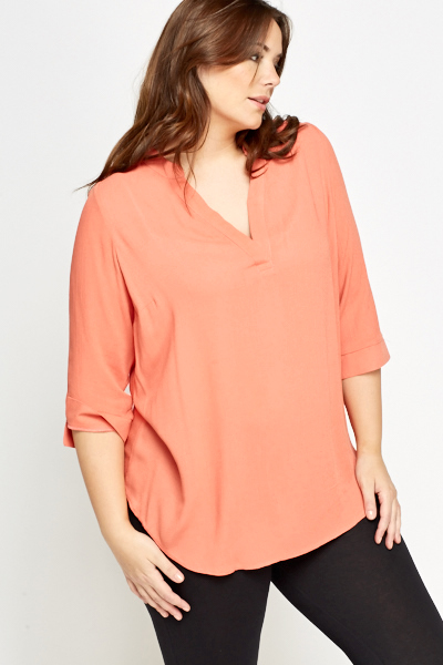 V-Neck Brick Top