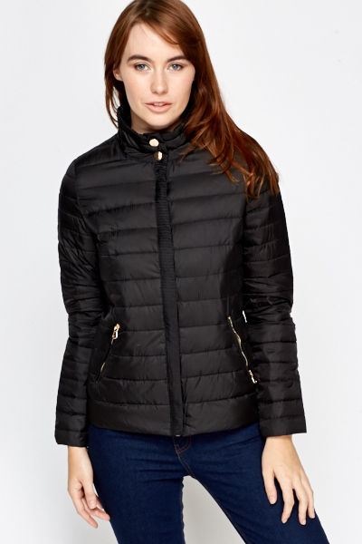 Padded Black Jacket | Jackets Review