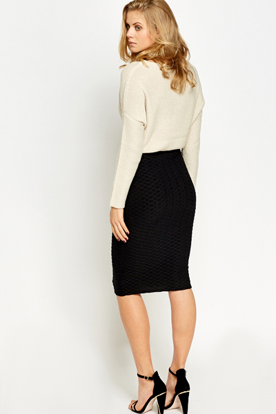 black high waist pencil skirt just 1635