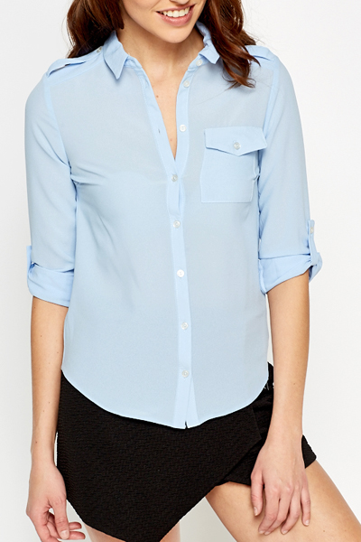 light blue button up shirt just 5