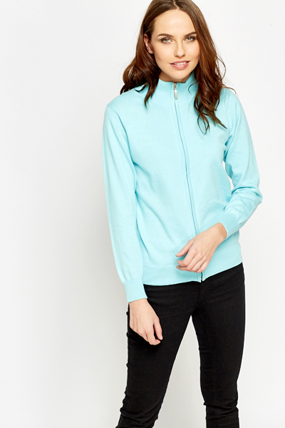 Sky Blue Zip Up Jumper