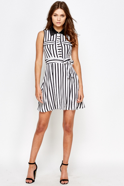 ff943aedb5cc8 Stripe Shirt Swing Dress - Just £5