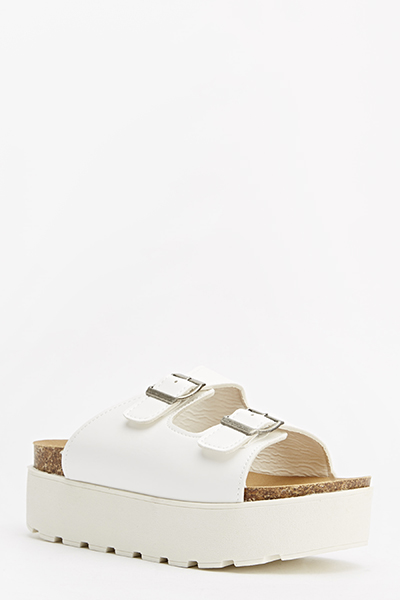 Buckle Slip On Flatforms