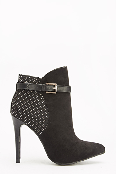 Encrusted Back Heeled Boots