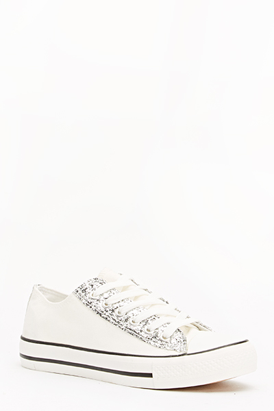 Glitter Front Trim Trainers