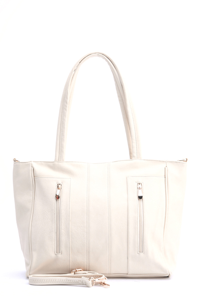 Large Zip Front Tote Bag
