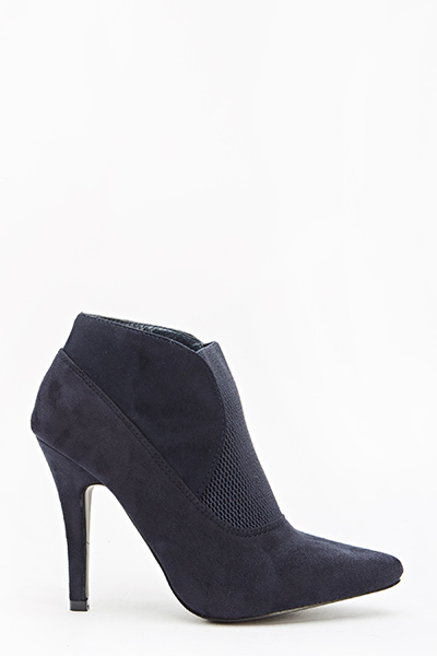 Navy Pointed Ankle Boots - Just £5