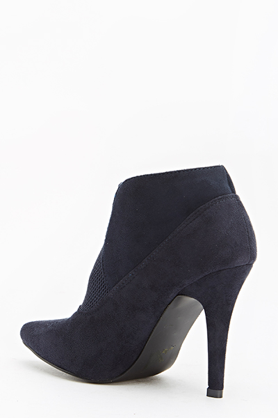 Navy Pointed Ankle Boots