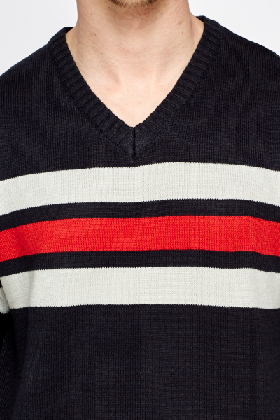 Contrast Striped Jumper
