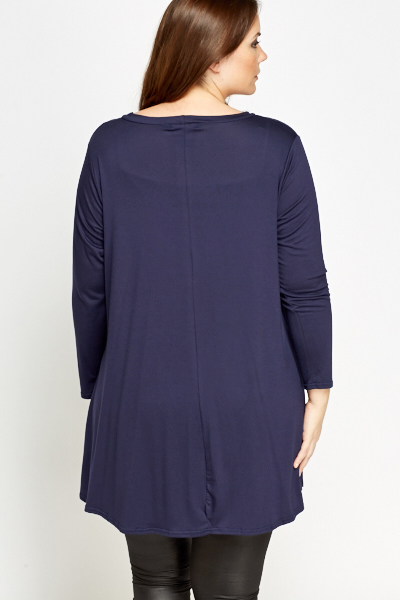 Dark Blue Swing Dress