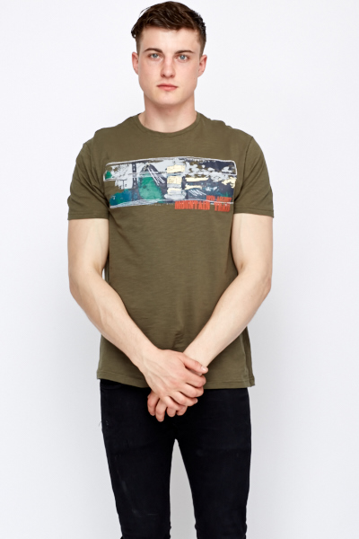 Printed green t shirt just 5 for Sustainable t shirt printing