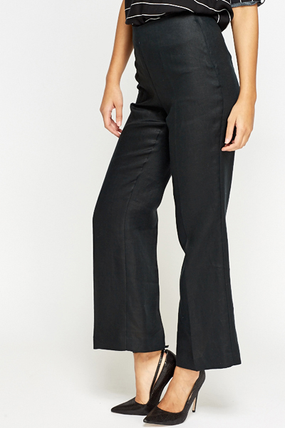 Black High Waist Wide Trousers