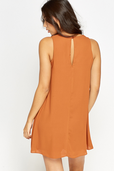Camel Shift Dress