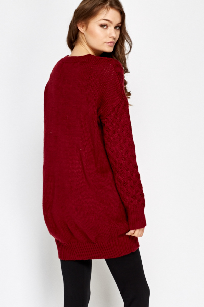 11a46ed65fa Chunky Cable Knit Jumper Dress - Just £5