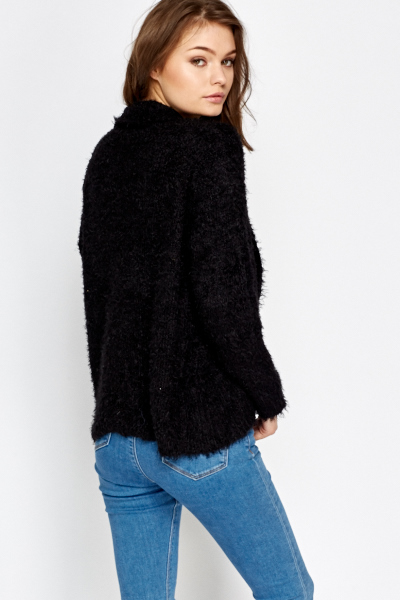 Fluffy Open Cardigan