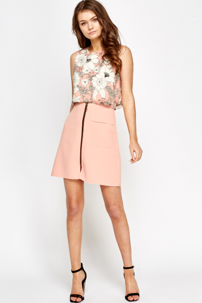 Peach A-Line Mini Skirt - Just £5