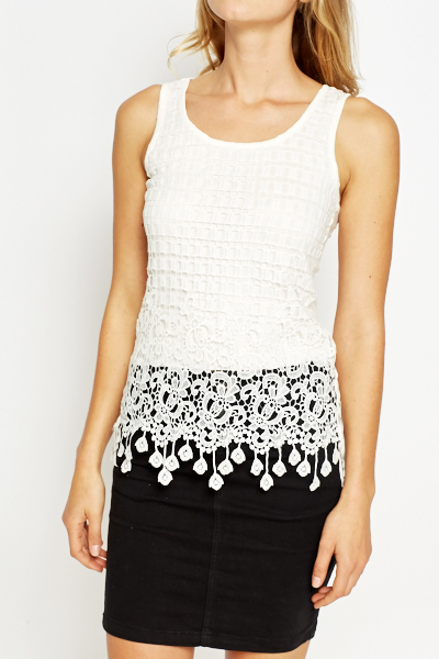 Crochet Overlay Front Top