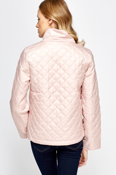 light pink coat light pink quilted jacket just 163 5 948