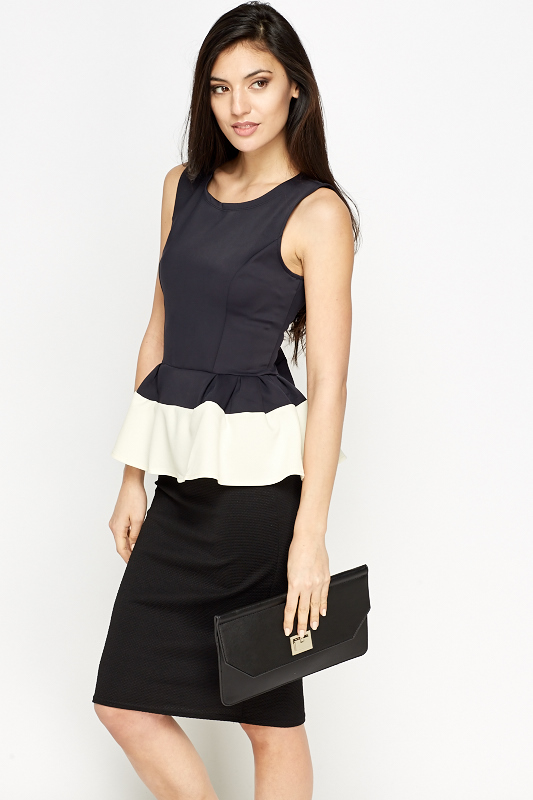 Mono Sleeveless Peplum Top