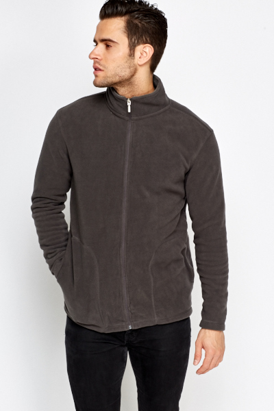 Fleeced Zip Front Jumper