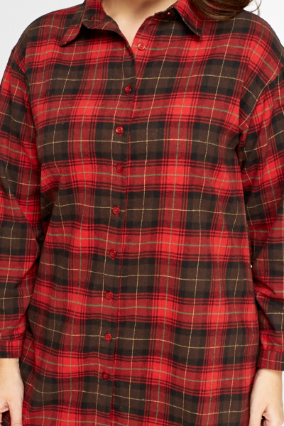 Red Tartan Button Up Shirt