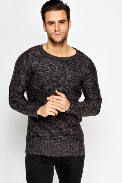 Speckled Elbow Patch Jumper