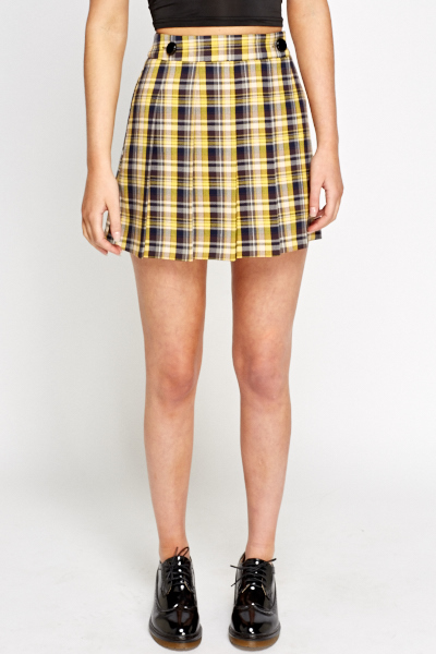 8ce97ccd2b Tartan Check Pleated Skirt - Just £5