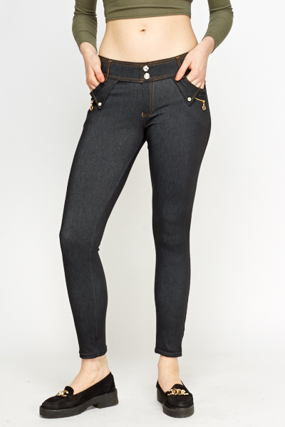 Charcoal Slim Leg Jeggings