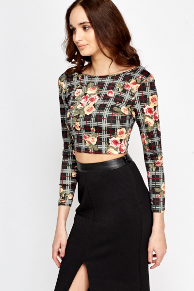Cris Cros Back Cropped Top