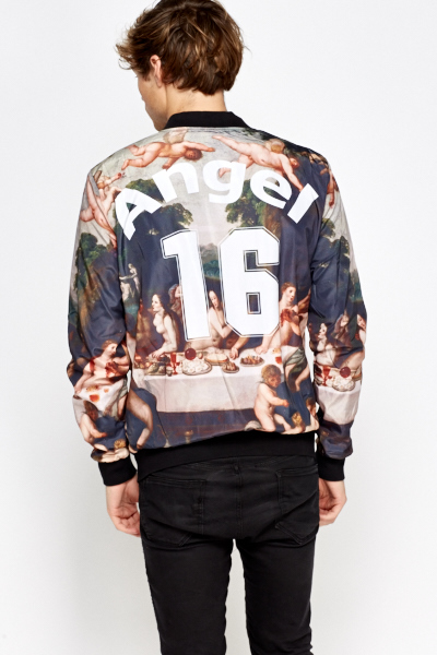 Printed Bomber Jacket