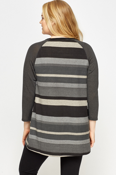 Striped Charcoal Tunic