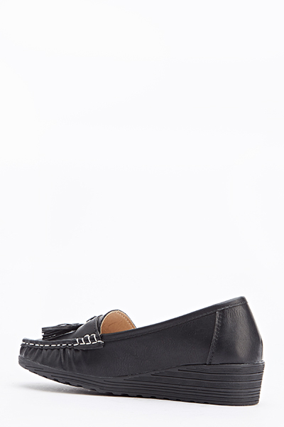 Wedged Tassel Loafers