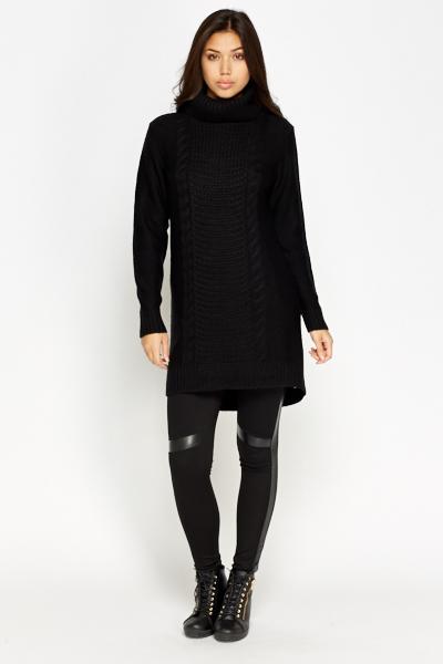 3bc9c7c0883 Plait Knit Roll Neck Jumper Dress - Just £5