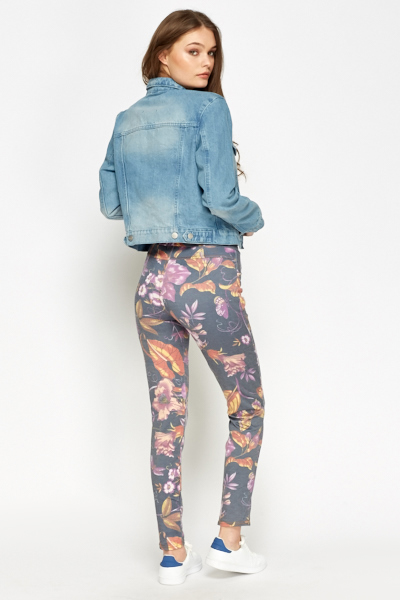 Purple Floral Trousers