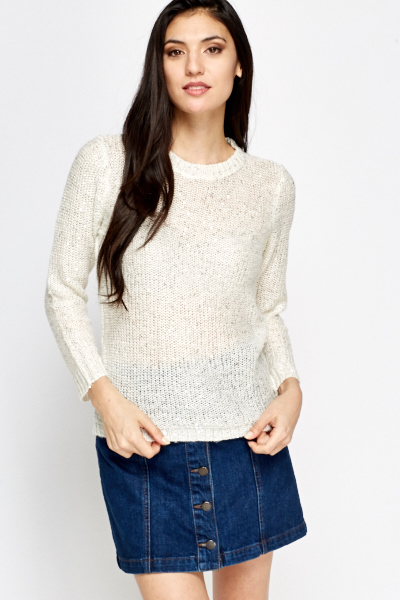 Image of Loose Sequin Knit Jumper