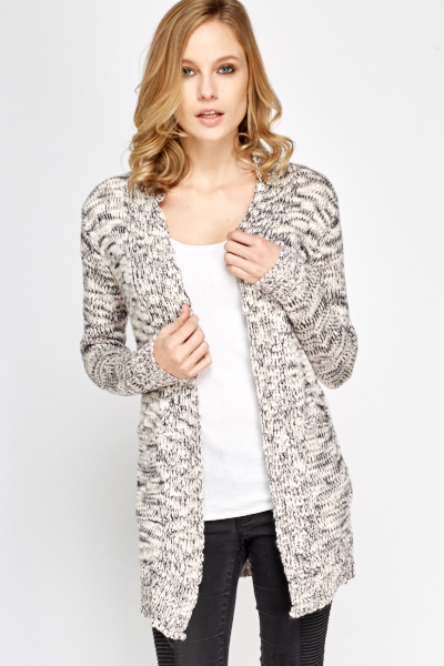 Speckled Pocket Side Cardigan